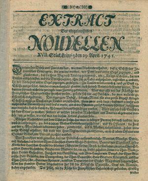 Extract der eingelauffenen Nouvellen vom 29.04.1741