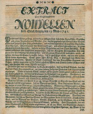 Extract der eingelauffenen Nouvellen on May 13, 1741