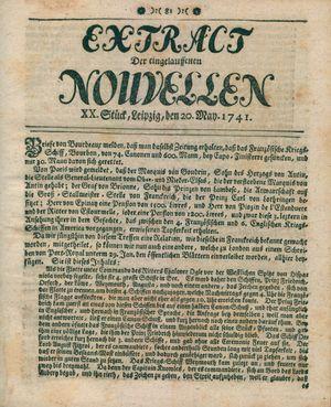 Extract der eingelauffenen Nouvellen vom 20.05.1741
