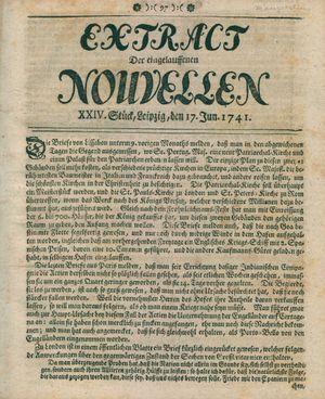 Extract der eingelauffenen Nouvellen vom 17.06.1741