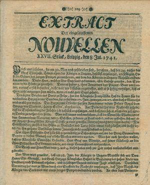 Extract der eingelauffenen Nouvellen on Jul 8, 1741