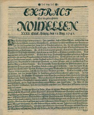 Extract der eingelauffenen Nouvellen on Aug 12, 1741