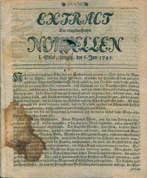 Extract der eingelauffenen Nouvellen vom 06.01.1742