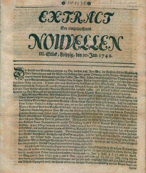 Extract der eingelauffenen Nouvellen vom 20.01.1742