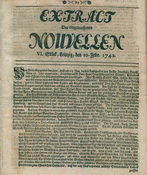 Extract der eingelauffenen Nouvellen vom 10.02.1742