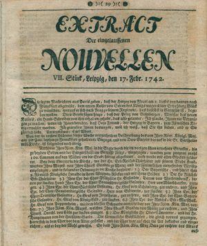 Extract der eingelauffenen Nouvellen vom 17.02.1742