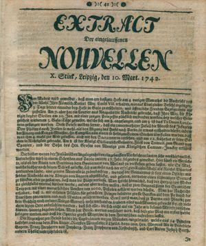 Extract der eingelauffenen Nouvellen on Mar 10, 1742