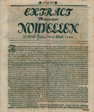Extract der eingelauffenen Nouvellen vom 17.03.1742