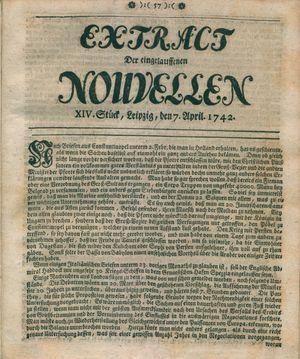 Extract der eingelauffenen Nouvellen vom 07.04.1742
