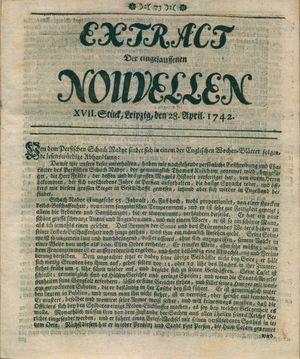Extract der eingelauffenen Nouvellen vom 28.04.1742