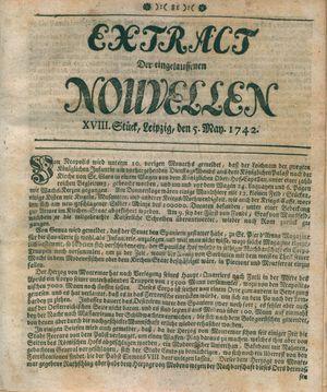 Extract der eingelauffenen Nouvellen vom 05.05.1742