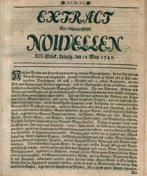 Extract der eingelauffenen Nouvellen vom 12.05.1742