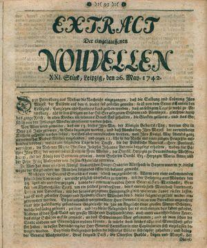Extract der eingelauffenen Nouvellen vom 26.05.1742