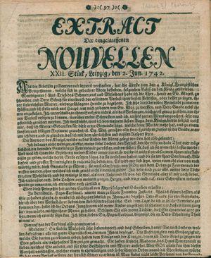 Extract der eingelauffenen Nouvellen vom 02.06.1742