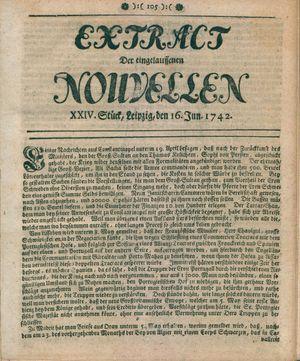 Extract der eingelauffenen Nouvellen vom 16.06.1742