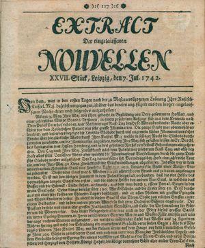 Extract der eingelauffenen Nouvellen vom 07.07.1742