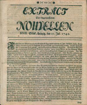 Extract der eingelauffenen Nouvellen vom 21.07.1742