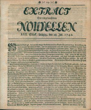 Extract der eingelauffenen Nouvellen vom 28.07.1742