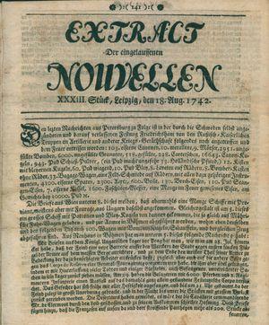 Extract der eingelauffenen Nouvellen vom 18.08.1742