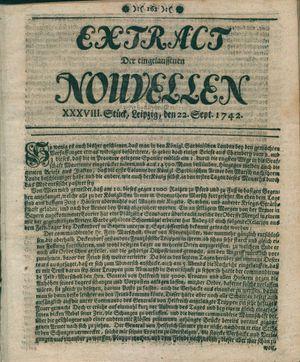 Extract der eingelauffenen Nouvellen vom 22.09.1742