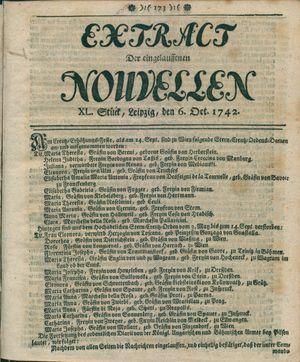 Extract der eingelauffenen Nouvellen vom 06.10.1742