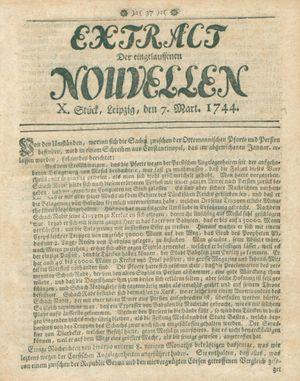 Extract der eingelauffenen Nouvellen vom 07.03.1744
