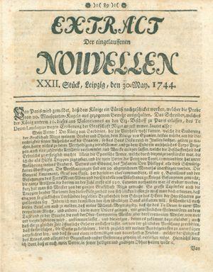 Extract der eingelauffenen Nouvellen vom 30.05.1744