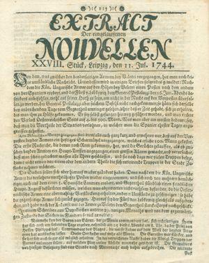 Extract der eingelauffenen Nouvellen vom 11.07.1744