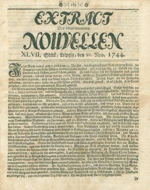 Extract der eingelauffenen Nouvellen on Nov 21, 1744