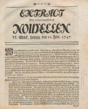 Extract der eingelauffenen Nouvellen on Feb 11, 1747