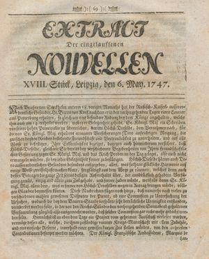Extract der eingelauffenen Nouvellen vom 06.05.1747