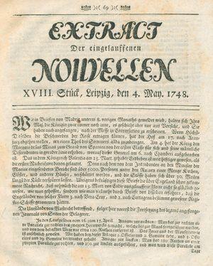 Extract der eingelauffenen Nouvellen vom 04.05.1748