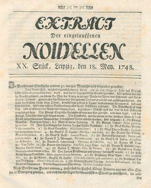 Extract der eingelauffenen Nouvellen vom 18.05.1748