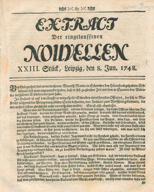 Extract der eingelauffenen Nouvellen vom 08.06.1748