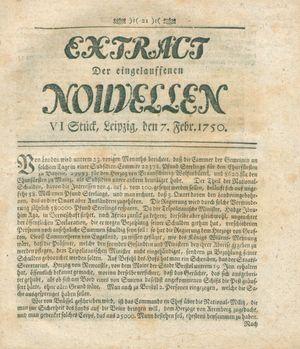 Extract der eingelauffenen Nouvellen vom 07.02.1750