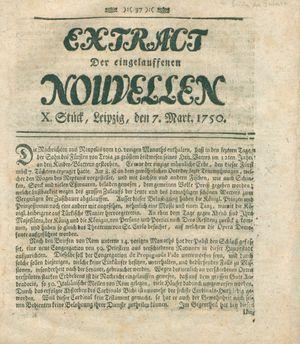 Extract der eingelauffenen Nouvellen on Mar 7, 1750