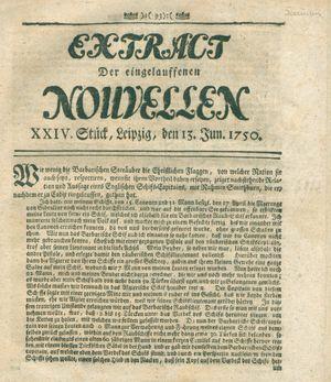 Extract der eingelauffenen Nouvellen vom 13.06.1750