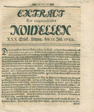 Extract der eingelauffenen Nouvellen vom 25.07.1750