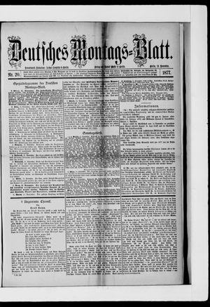 Berliner Tageblatt und Handels-Zeitung vom 12.11.1877