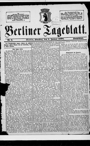 Berliner Tageblatt und Handels-Zeitung vom 01.01.1878