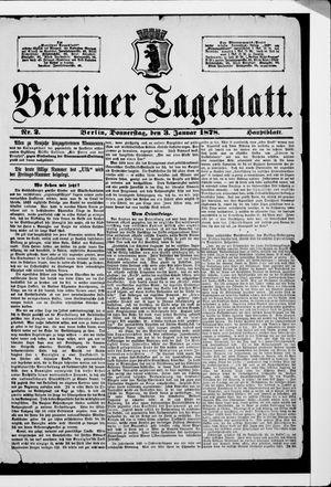 Berliner Tageblatt und Handels-Zeitung vom 03.01.1878