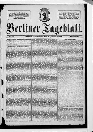 Berliner Tageblatt und Handels-Zeitung vom 05.01.1878