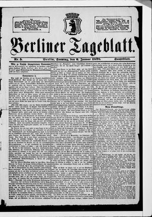 Berliner Tageblatt und Handels-Zeitung vom 06.01.1878
