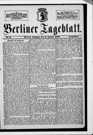 Berliner Tageblatt und Handels-Zeitung vom 08.01.1878
