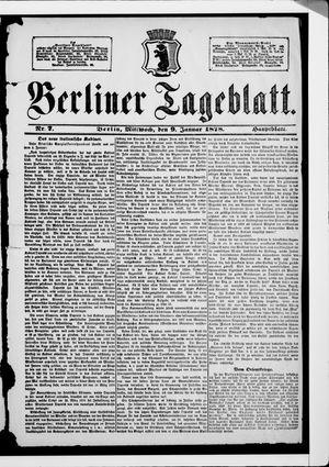 Berliner Tageblatt und Handels-Zeitung vom 09.01.1878