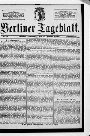 Berliner Tageblatt und Handels-Zeitung vom 10.01.1878
