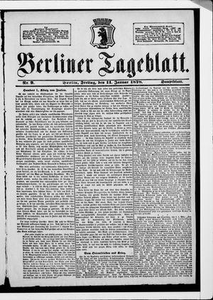 Berliner Tageblatt und Handels-Zeitung on Jan 11, 1878