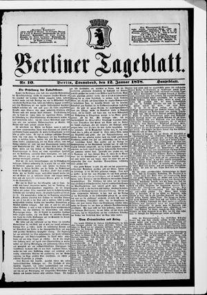 Berliner Tageblatt und Handels-Zeitung vom 12.01.1878