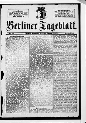 Berliner Tageblatt und Handels-Zeitung vom 13.01.1878