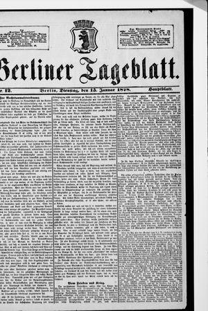 Berliner Tageblatt und Handels-Zeitung vom 15.01.1878